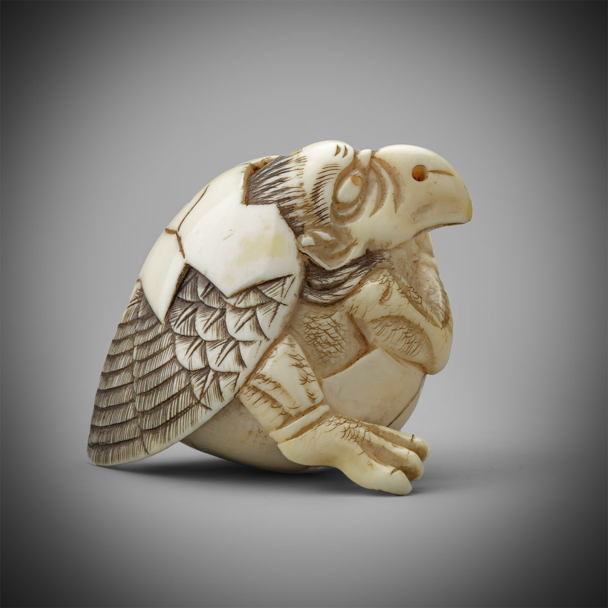 Ivory Netsuke of Tengu no Tamago by Masakazu, MR3257_v1
