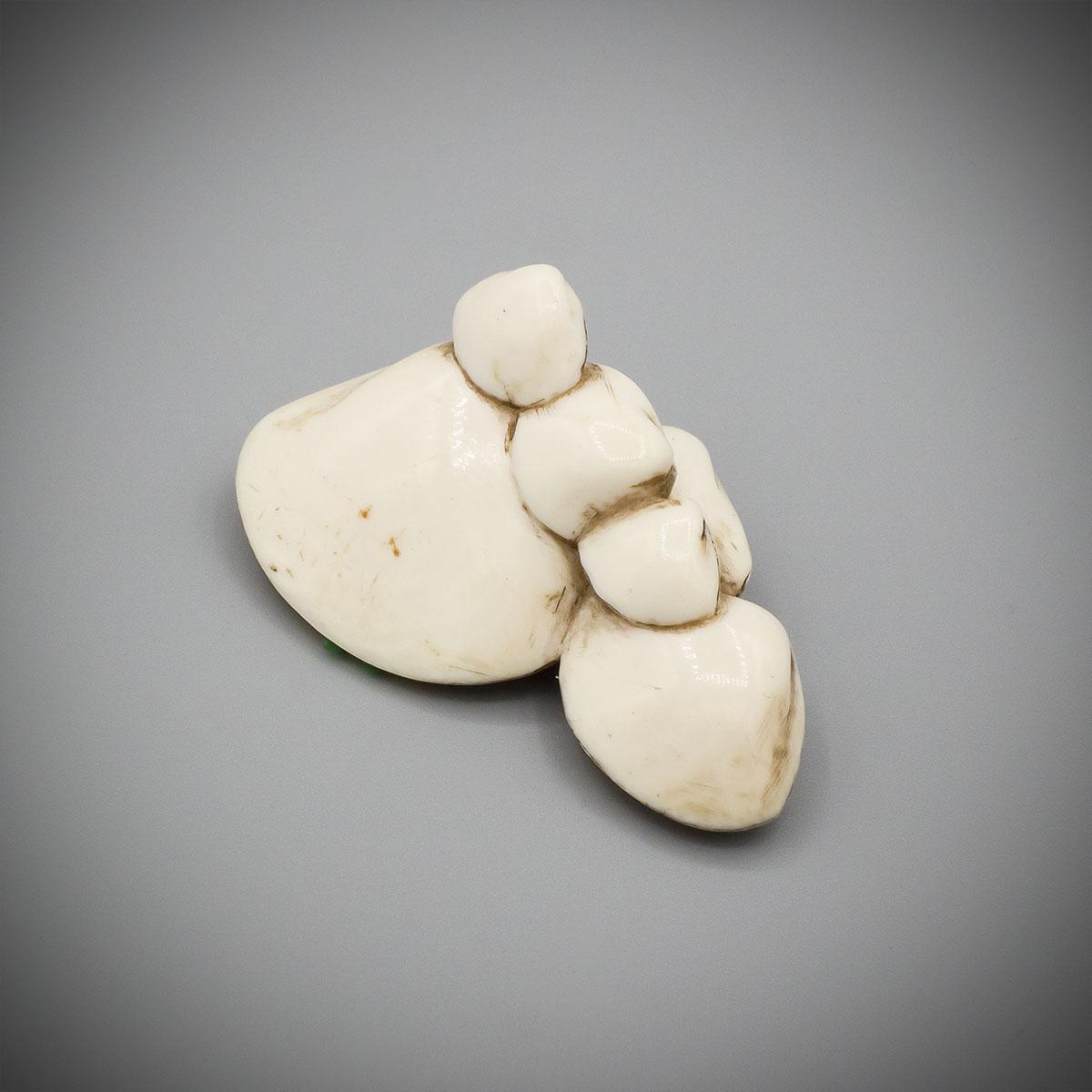 Ivory netsuke of six shells, MR3478_v.1-2